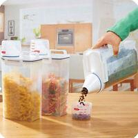 2L Plastic Cereal Dispenser Storage Box Kitchen Food Grain Rice Container
