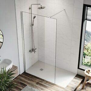 Frameless Shower Screen Walk In Shower Door Enclosure Fixed Panel 100x200cm