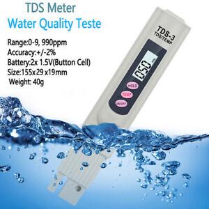 Digital TDS Probador de Calidad del Agua Medidor de Pureza PPM