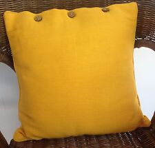 Cushion Cover Marigold Yellow Scatter Decorator Throw Chair Sofa Couch Daybed