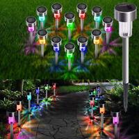 Luce decorativa per esterni da giardino a energia solare in acciaio inox con LED
