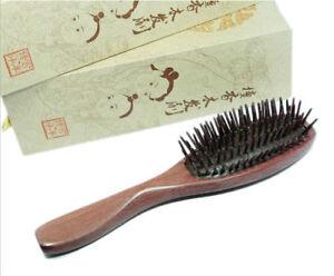 High Quality Natural Purple Heart Wood Hairbrush Wooden Pin Massage Comb 1pcs