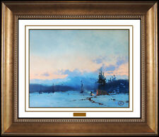 Thomas Kinkade Original Oil Painting On Board Western Illustration Signed Art