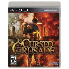 THE CURSED CRUSADE video game for PS3 PlayStation 3 COMPLETE