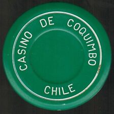 Chile Casino Chip- Casino de Coquimbo - valueless - roulette verde/blanco