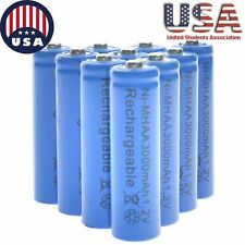 20x AA Rechargeable Batteries NiMH 3000mAh 1.2v For Garden Solar Ni-MH Light LED