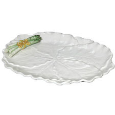 "Asparagus Cabbage Leaf Platter 61256 J Willfred / Andrea by Sadek 16"" New in Box"
