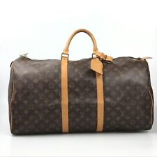 100% authentic Louis Vuitton Monogram Keepall 55 M41424 bag used 1326-2OK3