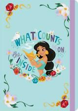 A5 Princess Jasmine Notebook Ruled Pad with Elasticated Closure 160 Pages