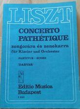 Liszt klavierkonzert concerto pathetique taschenpartitur