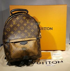 New Authentic Louis Vuitton Palm Springs PM Reverse Monogram Backpack Bag M44870