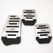 3 Pcs Aluminium Nonslip Brake Clutch Pedal Cover Set Foot For Car Safe Driving