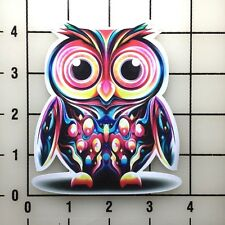 "EDC Electric Daisy Carnival Owl 4"" Full Color Die Cut vinyl decal sticker BOGO"