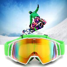 Motorcycle Ski Riding Racing Rainbow Lens Goggle UV Protection Anti-fog Glasses