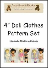 """4"""" Doll Clothes Pattern - Fits Amelia Thimble and Friends"""