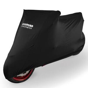 Oxford Protex Premium Black Indoor Stretch Motorcycle Dust Cover XL