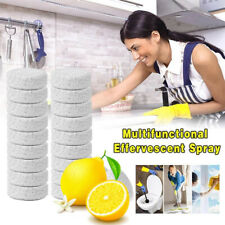 Multifunctional Concentrate Lemon Effervescent Spray Cleaner Chlorine 10Tablets✅