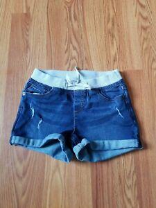 Justice Girl's Denim Bermuda Shorts Size 14 Blue Casual Jeans Cuffed