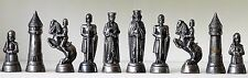 """Charlemagne"" ANRI-style Metal Chess Set in fitted case  K=3.5"""