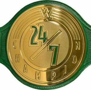 WWE 24/7 Title Champion Wrestling Belt Replica 2mm Brass Plates + Face Mask Bag