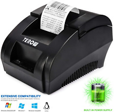 USB Thermal Receipt Printer 58mm TEROW Mini Portable Label Printer with High Low