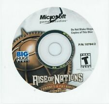 Rise Of Nations: Thrones & Patriots Expansion Computer Video Game CD