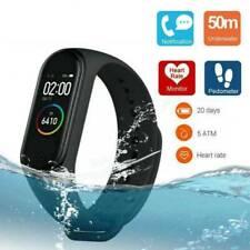 Горячий черный глобальной версии умный браслет часы OLED сенсорный экран водонепроницаемый 50 м