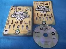 THE SIMS 2 TEEN STYLE STUFF add-on PACK PC CD-ROM v.g.c. POST VELOCE COMPLETO