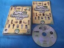 Los Sims 2 adolescentes estilo cosas Add-On Pack de PC CD-ROM v.g.c. rápido post Completa