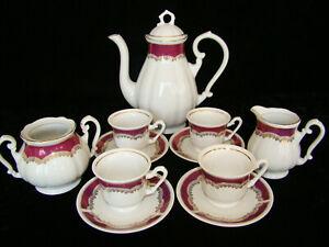 Vintage FP Zajecar Porcelain Tea / Coffee Espresso set Demitasse Style Cups