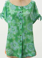 Vanessa Virginia Silk Fata Morgana Top Blouse Size 2 Green NW ANTHROPOLOGIE Tag