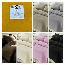 Plush Teddy Sherpa Fleece Duvet/Quilt Cover Set With P.cases Super Soft And Cosy