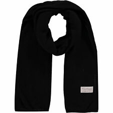 KURT BEINES Black Wool and Cashmere Blend Scarf - Made in Italy