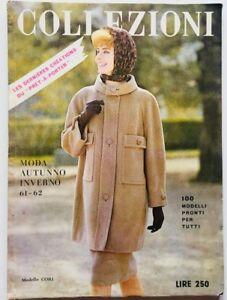 Collezioni Rivista moda fashion vintage Anno I Numero 1 Autunno Inverno 1961
