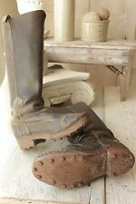 Antique French leather HOBNAIL WORK  BOOTS  chore wear 1800's