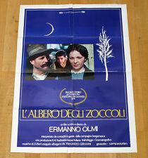 L'ALBERO DEGLI ZOCCOLI poster manifesto Ermanno Olmi Bergamo Contadini Cannes