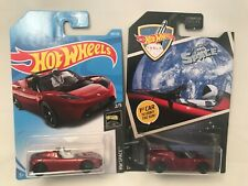 HOT WHEELS  GREETINGS FROM SPACE & HW SPACE TESLA SPORTSTER MOMC LOT OF 2