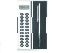 Case Calculator With Metal Ball Pen, Pocket Calculator and Pen