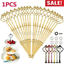 10PCS 3 Tier Cake Cupcake Plate Stand Handle Fitting Hardware Rod Wedding Party