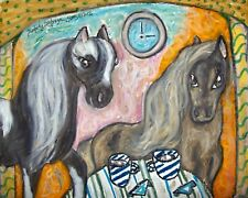 Miniature Horse Drinking Cocoa Pop Art Print 8x10 Collectible Signed by Artist
