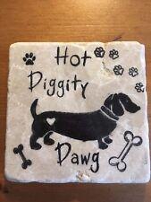 Unusual Handmade Stone Tile Coaster/Animal/Dog/Dawg//Ideal gifts/Christmas/Xmas