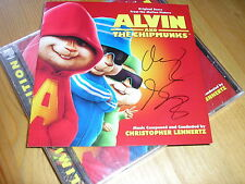Christopher Lennertz - Alvin And The Chipmunks (LLL) NEW & Sealed + Autographed