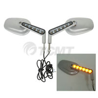 Muscle Rear View Mirrors LED Front Turn Signals Fit For Harley V ROD VRSCF 09-17