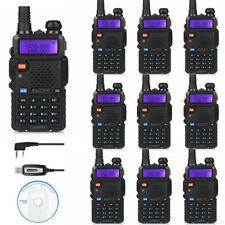 DE 10×BaoFeng UV-5R TP + Cable Tri-Power 1/4/8W Walkie Talkie Radio Transceptor