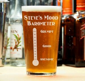 Custom Personalised Birthday Beer Lager Pint Glass 18th 21st 30th 40th Drinking