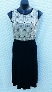 MAX MARA DRESS SIZE S - BLACK & WHITE GORGEOUS!