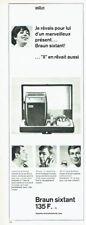 Publicité Advertising 097  1966  Braun Sixtant  rasoir homme