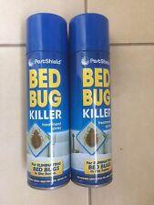 2 x 200ml Bed Bug Flea Killer Treatment Spray Carpet Mattress (2 Cans of 200ml)