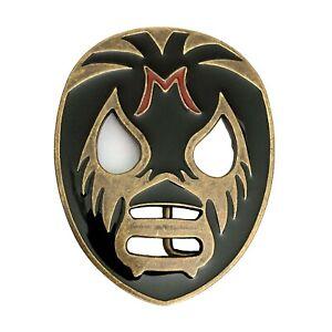 Rockabilly Horror Punk Lucha Luchador Mexican Wrestler Mask Bronze Belt Buckle