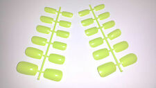 24 BUDGET FALSE FAKE NAILS TIPS + GLUE IDEAL REPLACEMENT NAIL TIP LIME GREEN